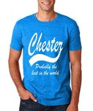 "CHESTER Best City Mens T Shirts White-T Shirts-Gildan-Antique Sapphire-S To Fit Chest 36-38"" (91-96cm)-Daataadirect"