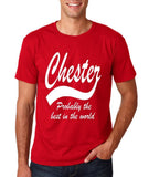 CHESTER Best City Mens T Shirts White-Gildan-Daataadirect.co.uk