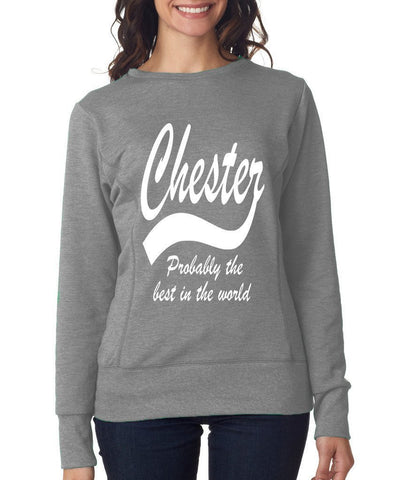 CHESTER Best City Womens SweatShirts White-ANVIL-Daataadirect.co.uk