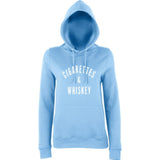 Ciggrates And Whisky Women Hoodies White-AWD-Daataadirect.co.uk