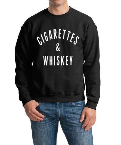 Cigrattes And Whisky Men Sweat Shirts White-Gildan-Daataadirect.co.uk