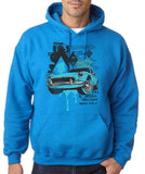 "Classic Car Blue Vintage  Men Hoodies-Hoodies-Gildan-Antique Sapphire-S To Fit Chest 36-38"" (91-96cm)-Daataadirect"