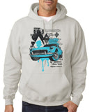 "Classic Car Blue Vintage  Men Hoodies-Hoodies-Gildan-Ash-S To Fit Chest 36-38"" (91-96cm)-Daataadirect"