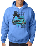 "Classic Car Blue Vintage  Men Hoodies-Hoodies-Gildan-Carolina Blue-S To Fit Chest 36-38"" (91-96cm)-Daataadirect"