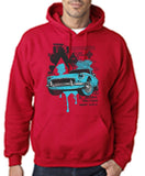 "Classic Car Blue Vintage  Men Hoodies-Hoodies-Gildan-Cherry Red-S To Fit Chest 36-38"" (91-96cm)-Daataadirect"