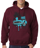 "Classic Car Blue Vintage  Men Hoodies-Hoodies-Gildan-Garmet-S To Fit Chest 36-38"" (91-96cm)-Daataadirect"