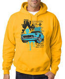 "Classic Car Blue Vintage  Men Hoodies-Hoodies-Gildan-Gold-S To Fit Chest 36-38"" (91-96cm)-Daataadirect"