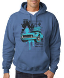 "Classic Car Blue Vintage  Men Hoodies-Hoodies-Gildan-Indigo Blue-S To Fit Chest 36-38"" (91-96cm)-Daataadirect"