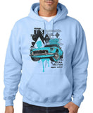"Classic Car Blue Vintage  Men Hoodies-Hoodies-Gildan-Light Blue-S To Fit Chest 36-38"" (91-96cm)-Daataadirect"