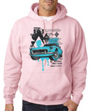 "Classic Car Blue Vintage  Men Hoodies-Hoodies-Gildan-Light pink-S To Fit Chest 36-38"" (91-96cm)-Daataadirect"