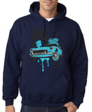 "Classic Car Blue Vintage  Men Hoodies-Hoodies-Gildan-Navy Blue-S To Fit Chest 36-38"" (91-96cm)-Daataadirect"