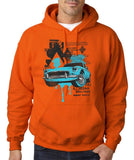 "Classic Car Blue Vintage  Men Hoodies-Hoodies-Gildan-Orange-S To Fit Chest 36-38"" (91-96cm)-Daataadirect"