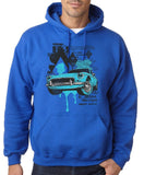 "Classic Car Blue Vintage  Men Hoodies-Hoodies-Gildan-Royal Blue-S To Fit Chest 36-38"" (91-96cm)-Daataadirect"