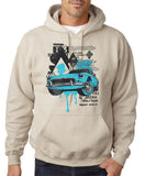 "Classic Car Blue Vintage  Men Hoodies-Hoodies-Gildan-Sand-S To Fit Chest 36-38"" (91-96cm)-Daataadirect"