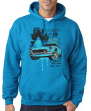 "Classic Car Blue Vintage  Men Hoodies-Hoodies-Gildan-Sapphire-S To Fit Chest 36-38"" (91-96cm)-Daataadirect"