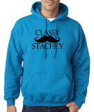 Classy mustache stachey Mens Hoodies Black-Gildan-Daataadirect.co.uk