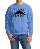 Classy mustache stachey Mens SweatShirt Black-Gildan-Daataadirect.co.uk