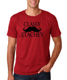 "Classy mustache stachey Mens T Shirt Black-T Shirts-Gildan-Cardinal-S To Fit Chest 36-38"" (91-96cm)-Daataadirect"