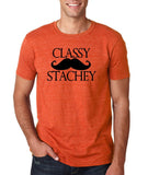 "Classy mustache stachey Mens T Shirt Black-T Shirts-Gildan-Heather Orange-S To Fit Chest 36-38"" (91-96cm)-Daataadirect"