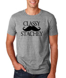 "Classy mustache stachey Mens T Shirt Black-T Shirts-Gildan-Sport Grey-S To Fit Chest 36-38"" (91-96cm)-Daataadirect"