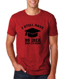 "Clueless Graduate No Idea What Doing Men T Shirt White-T Shirts-Gildan-Antique Cherry-S To Fit Chest 36-38"" (91-96cm)-Daataadirect"