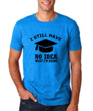 "Clueless Graduate No Idea What Doing Men T Shirt White-T Shirts-Gildan-Antique Sapphire-S To Fit Chest 36-38"" (91-96cm)-Daataadirect"