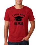 "Clueless Graduate No Idea What Doing Men T Shirt White-T Shirts-Gildan-Cardinal-S To Fit Chest 36-38"" (91-96cm)-Daataadirect"