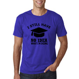 "Clueless Graduate No Idea What Doing Men T Shirt White-T Shirts-Gildan-Cobalt-S To Fit Chest 36-38"" (91-96cm)-Daataadirect"