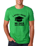 "Clueless Graduate No Idea What Doing Men T Shirt White-T Shirts-Gildan-Heather Irish Green-S To Fit Chest 36-38"" (91-96cm)-Daataadirect"
