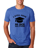 "Clueless Graduate No Idea What Doing Men T Shirt White-T Shirts-Gildan-Heather Royal-S To Fit Chest 36-38"" (91-96cm)-Daataadirect"