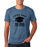 "Clueless Graduate No Idea What Doing Men T Shirt White-T Shirts-Gildan-Indigo Blue-S To Fit Chest 36-38"" (91-96cm)-Daataadirect"