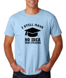 "Clueless Graduate No Idea What Doing Men T Shirt White-T Shirts-Gildan-Light Blue-S To Fit Chest 36-38"" (91-96cm)-Daataadirect"
