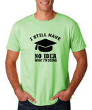 "Clueless Graduate No Idea What Doing Men T Shirt White-T Shirts-Gildan-Mint Green-S To Fit Chest 36-38"" (91-96cm)-Daataadirect"