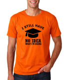 "Clueless Graduate No Idea What Doing Men T Shirt White-T Shirts-Gildan-Orange-S To Fit Chest 36-38"" (91-96cm)-Daataadirect"