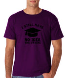 "Clueless Graduate No Idea What Doing Men T Shirt White-T Shirts-Gildan-Purple-S To Fit Chest 36-38"" (91-96cm)-Daataadirect"