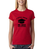 Clueless Graduate No Idea What Doing Women T Shirt White-Gildan-Daataadirect.co.uk