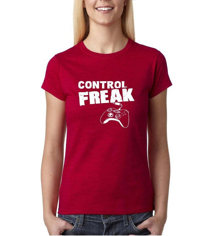 Control freak White Womens T Shirt-Daataadirect