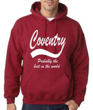 "COVENTRY Best City Mens Hoodies White-Hoodies-Gildan-Antique Cherry-S To Fit Chest 36-38"" (91-96cm)-Daataadirect"