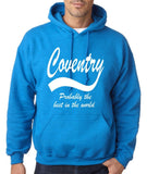 "COVENTRY Best City Mens Hoodies White-Hoodies-Gildan-Antique Sapphire-S To Fit Chest 36-38"" (91-96cm)-Daataadirect"