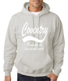 "COVENTRY Best City Mens Hoodies White-Hoodies-Gildan-Ash-S To Fit Chest 36-38"" (91-96cm)-Daataadirect"
