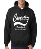 "COVENTRY Best City Mens Hoodies White-Hoodies-Gildan-Black-S To Fit Chest 36-38"" (91-96cm)-Daataadirect"
