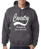"COVENTRY Best City Mens Hoodies White-Hoodies-Gildan-Charcoal-S To Fit Chest 36-38"" (91-96cm)-Daataadirect"