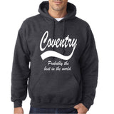 "COVENTRY Best City Mens Hoodies White-Hoodies-Gildan-Dark Heather-S To Fit Chest 36-38"" (91-96cm)-Daataadirect"