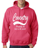 "COVENTRY Best City Mens Hoodies White-Hoodies-Gildan-Heliconia-S To Fit Chest 36-38"" (91-96cm)-Daataadirect"