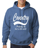"COVENTRY Best City Mens Hoodies White-Hoodies-Gildan-Indigo Blue-S To Fit Chest 36-38"" (91-96cm)-Daataadirect"
