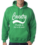 "COVENTRY Best City Mens Hoodies White-Hoodies-Gildan-Irish Green-S To Fit Chest 36-38"" (91-96cm)-Daataadirect"