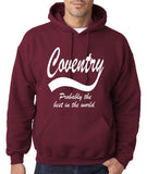 "COVENTRY Best City Mens Hoodies White-Hoodies-Gildan-Maroon-S To Fit Chest 36-38"" (91-96cm)-Daataadirect"