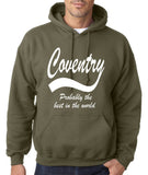 "COVENTRY Best City Mens Hoodies White-Hoodies-Gildan-Military Green-S To Fit Chest 36-38"" (91-96cm)-Daataadirect"