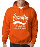 "COVENTRY Best City Mens Hoodies White-Hoodies-Gildan-Orange-S To Fit Chest 36-38"" (91-96cm)-Daataadirect"