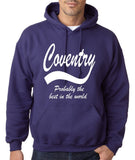 "COVENTRY Best City Mens Hoodies White-Hoodies-Gildan-Purple-S To Fit Chest 36-38"" (91-96cm)-Daataadirect"